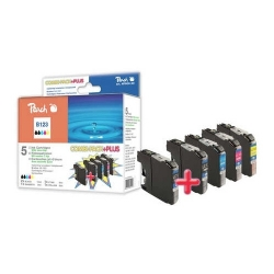 Brother LC-123 pack kompatibilních inkoustových kazet Peach, 2x černá + 3 barvy