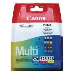 Canon CLI-526 pack, originální kazety azurová, purpurová, žlutá, 9ml