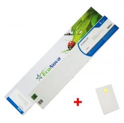Agfa kompatibilní kazeta InkTec EcoNova ID 440ml Cyan + SmartCard