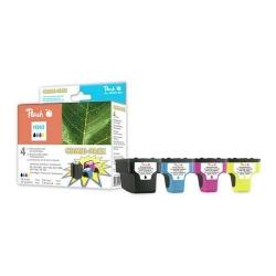 HP 363 pack kompatibilních inkoustových kazet s čipem Peach, černá (34ml) + 3 barvy (12ml)