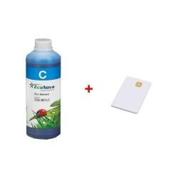 Inkoust InkTec EcoNova Solvent pro Mutoh, Oce a Xerox 1l Cyan + SmartCard 1l