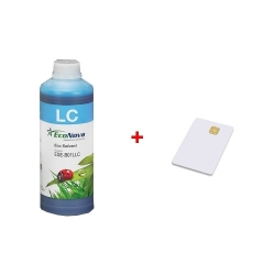 Inkoust InkTec EcoNova Solvent pro Mutoh, Oce a Xerox 1l Light Cyan + SmartCard 1l