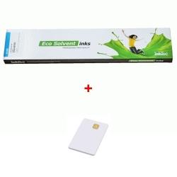 Inkoustová kazeta InkTec 440ml Cyan EcoNova Pigment pro Oce + SmartCard