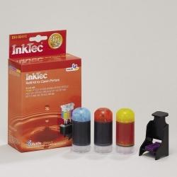 Plnící sada InkTec pro Canon CL-38/41/51C 3x20ml barevná + plnící držák