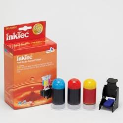 Plnící sada InkTec pro Canon CL-541/541XL 3x20ml barevná + plnící držák