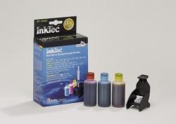 Plnící sada InkTec pro HP 22/28/57 3x25ml barevná + plnící držák