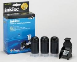 Plnící sada InkTec pro HP 350/350XL 3x20ml černá Pigment + plnící držák
