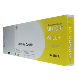Replacement Cartridge UV LED 220ml Yellow for Mutoh