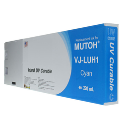 Replacement Cartridge UV LED 220ml Cyan for Mutoh