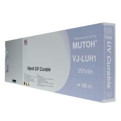 Replacement Cartridge UV LED 220ml White for Mutoh