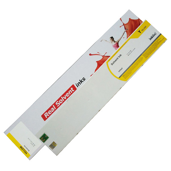 Mimaki JV3 compatible ink cartridge InkTec 440ml Solvent Yellow